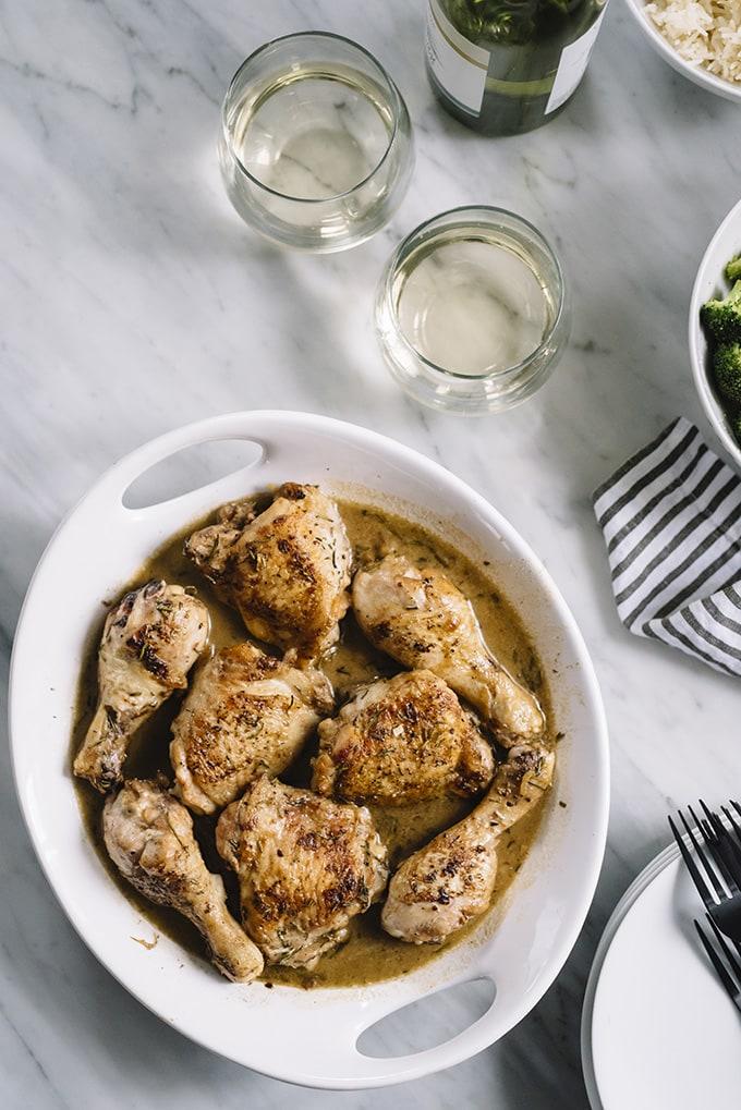 Crispy Chicken with Rosemary Cream Sauce