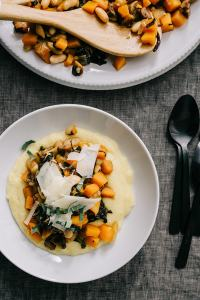 This butternut squash and white bean ragout is a hearty, super nutritious winter stew. Serve it over polenta, rice, or crusty bread, or for a grain-free option, pureed or riced cauliflower.