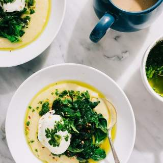 Breakfast Polenta with Salsa Verde (Gluten-Free)