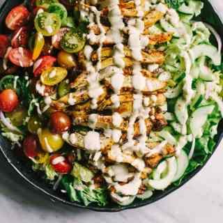 Chicken Shawarma Salad with Fresh Herbs