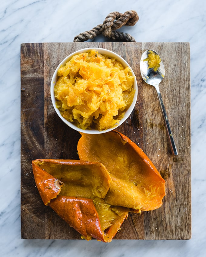This paleo pumpkin soup is the reason for the fall season. Fresh roasted sugar pumpkins make for a bright, fresh, and sweet flavor. This is an easy and simple lunch, or a crowd-pleasing start to an epic Thanksgiving meal. #glutenfree #paleo #recipe #pumpkinsoup #wholefood #realfood