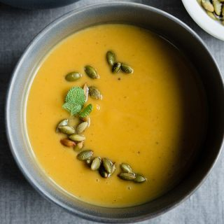 Paleo Pumpkin Soup with Pepitas