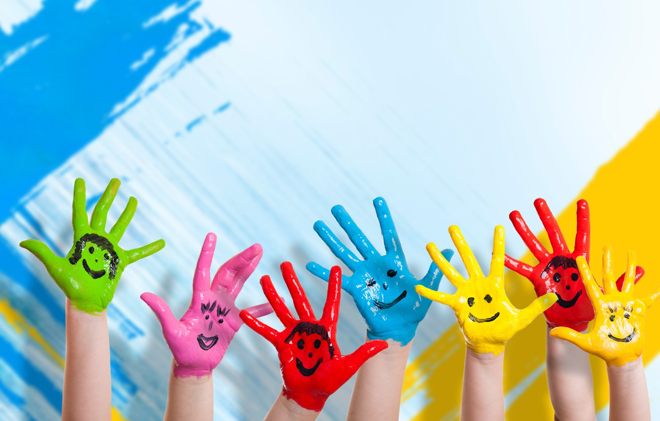 Children Color Hands