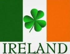 Ireland Flag with Shamrock
