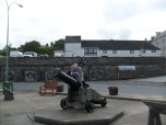 The Old Fog Cannon at Wick Harbour, Scotland