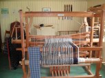 A traditional weavers loom at Highland Folk Museum