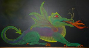 Dragon drawing from www.chalkboarddrawing.org