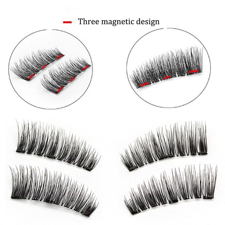 2 Pairs Magnetic Eyelashes 3D Reusable False Magnet Eye