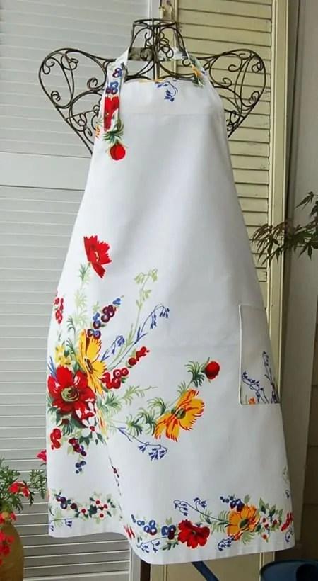 floral full apron