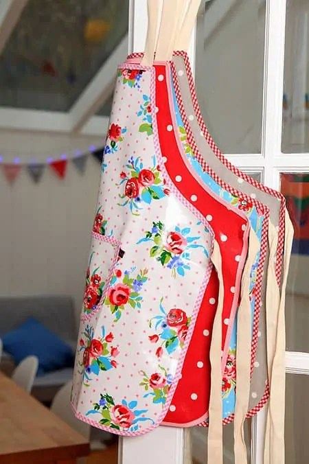 oil cloth aprons