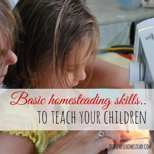 Homesteading Skills to teach Your Children