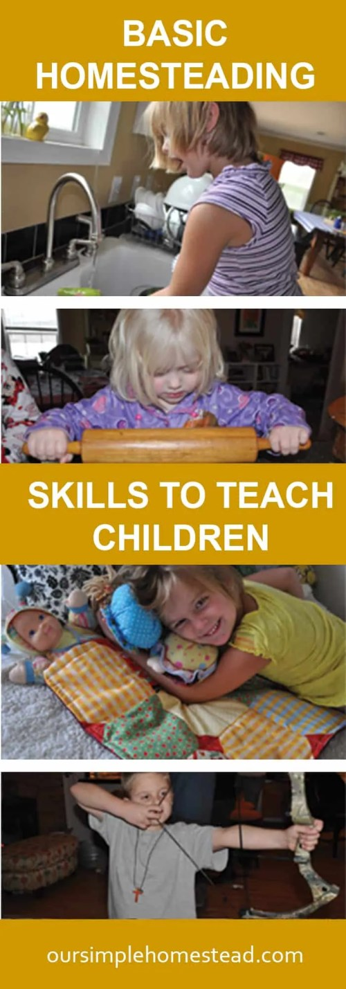Basic Homesteading Sills to Teach Children