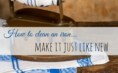 How to Clean an Iron – Make it Just Like New