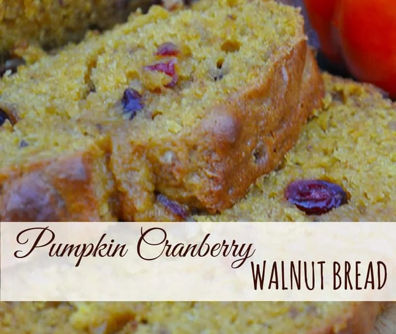 Pumpkin Cranberry Walnut Bread