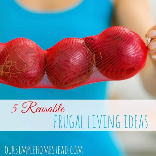 reusable frugal living tips