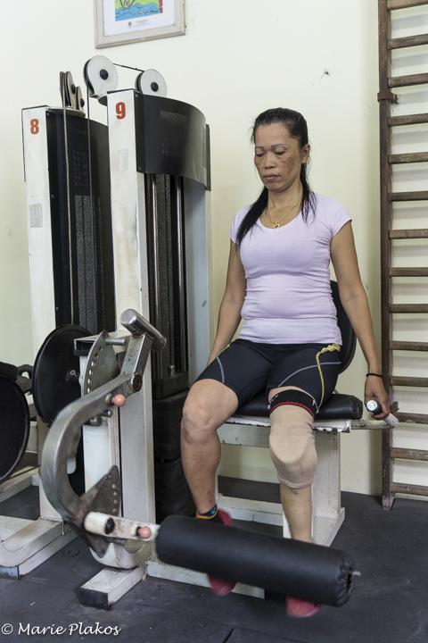 Nguyen exercizing