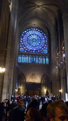 Notre Dame, interior, rose window