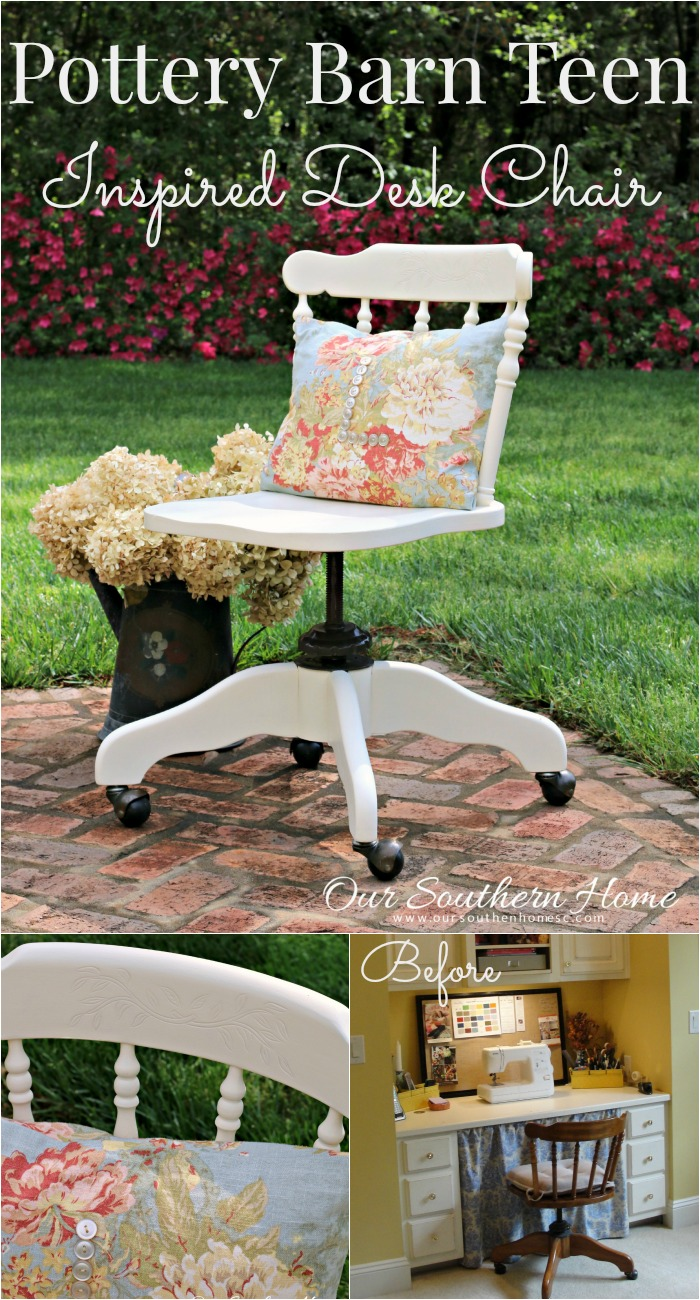 Teen Desk Chair Pottery Barn Inspired Desk Chair Our Southern Home