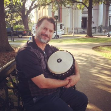 I want to make a drum circle that is part of downtown and plays at Cathedral Square