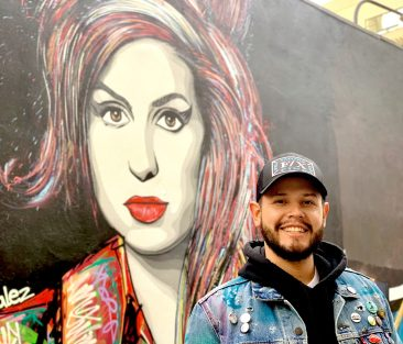 The message of the mural is an awareness of overdose and suicide