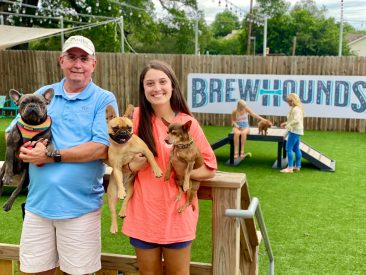 Who wouldn't want to let their dogs loose and drink beer?
