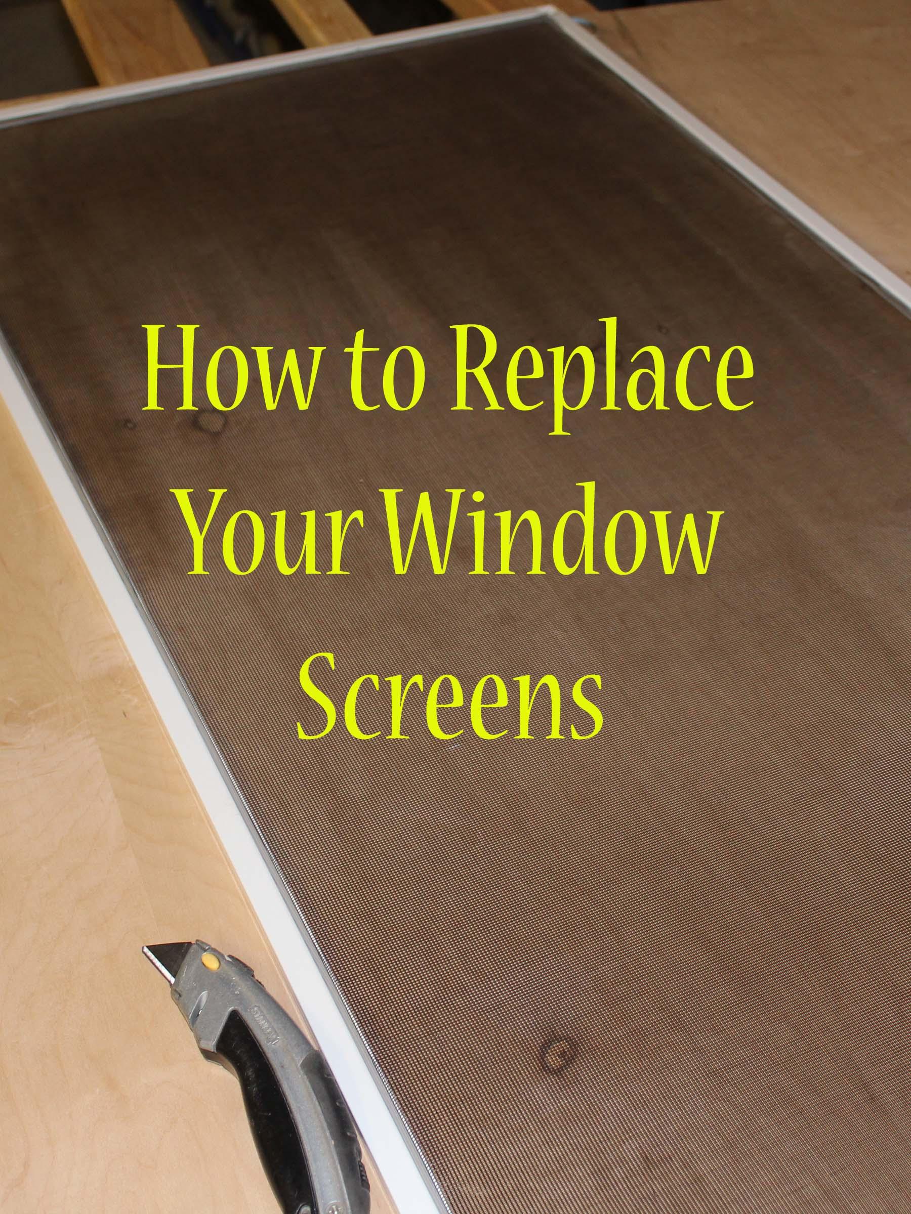 DIY Friday  Replacing window screens  Stoney Acres
