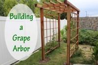 Building a Grape Arbor - Stoney Acres