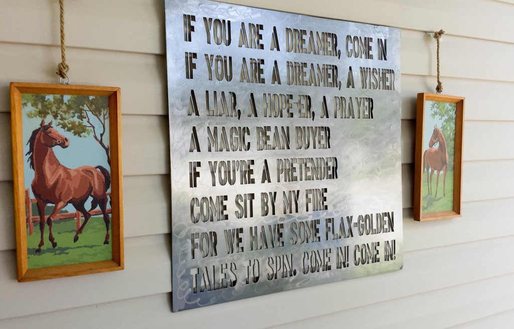 How To Hang Decor On Vinyl Siding • Our Storied Home