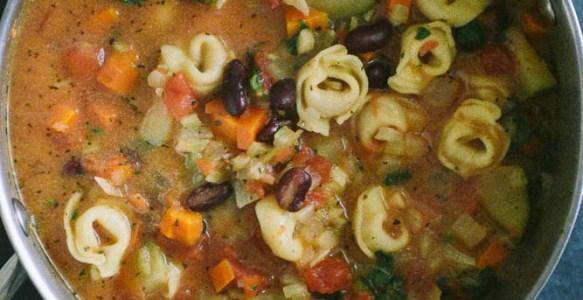 Homemade Vegetable Tortellini Soup