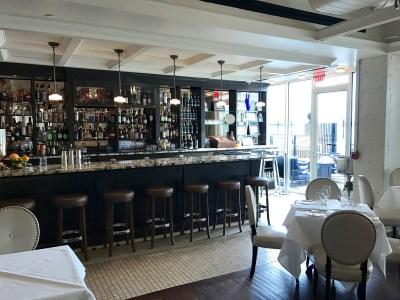 bar adjacent to patio