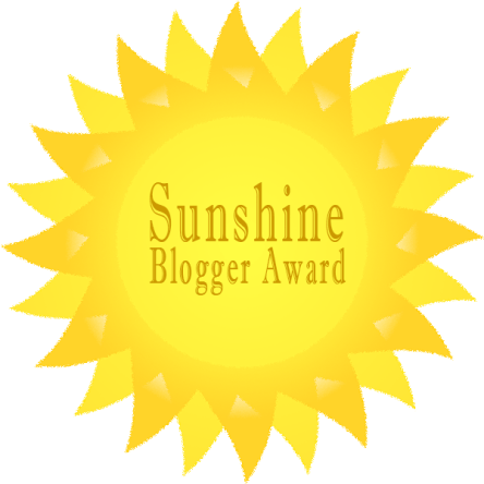 We Received the Sunshine Blogger Award