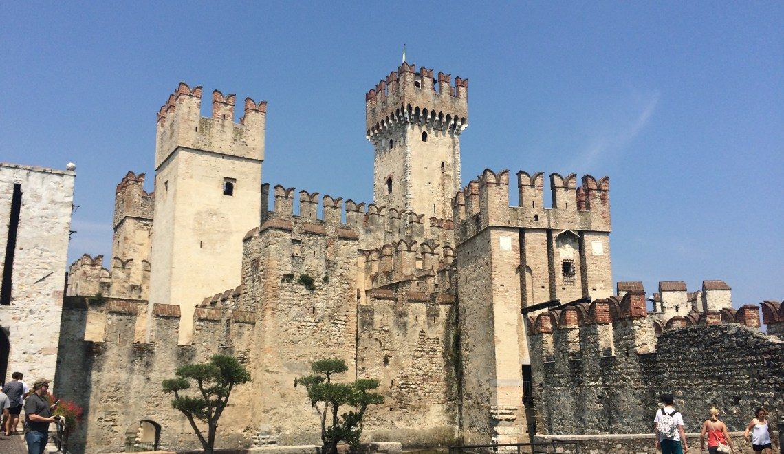 The Scaliger (Sinking) Castle in Sirmione, Lake Garda, Italy