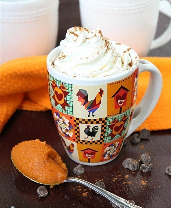 Pumpkin Pie Hot Chocolate from Table for Seven
