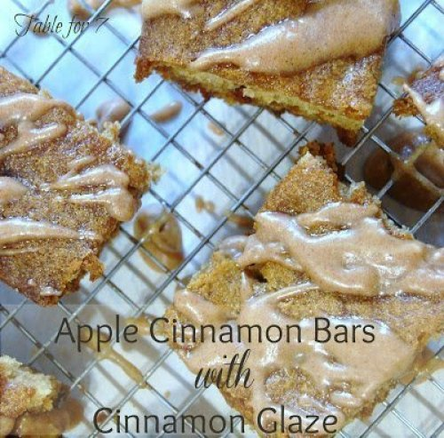 Apple Cinnamon Bars with Cinnamon Glaze from Table for Seven