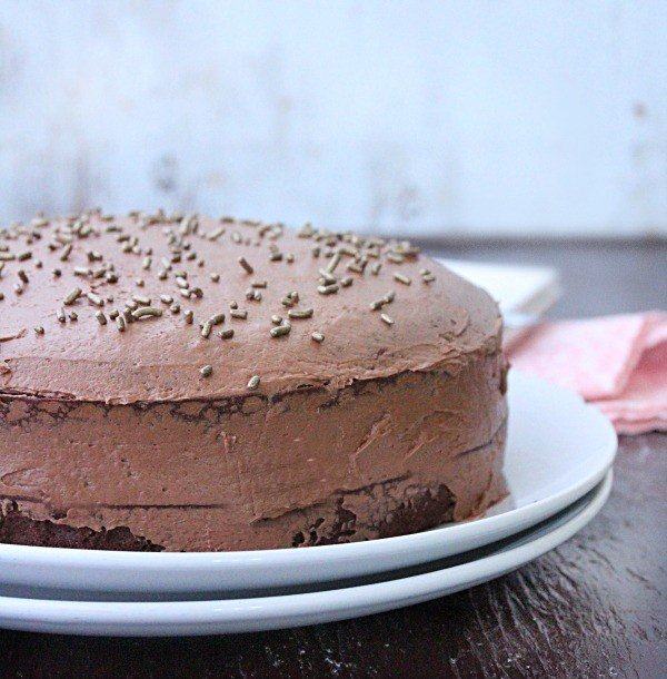Diet Soda Cake with Chocolate Buttercream Frosting (No Powdered Sugar Required) from Table for Seven