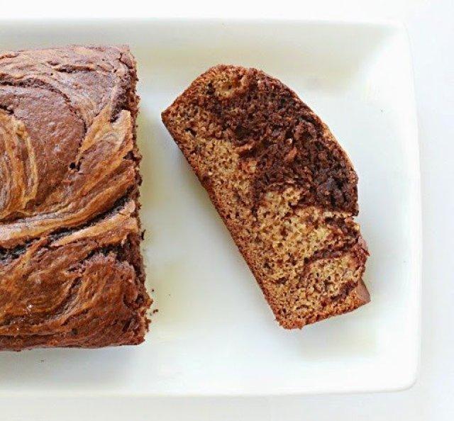 Marbled Chocolate Banana Bread