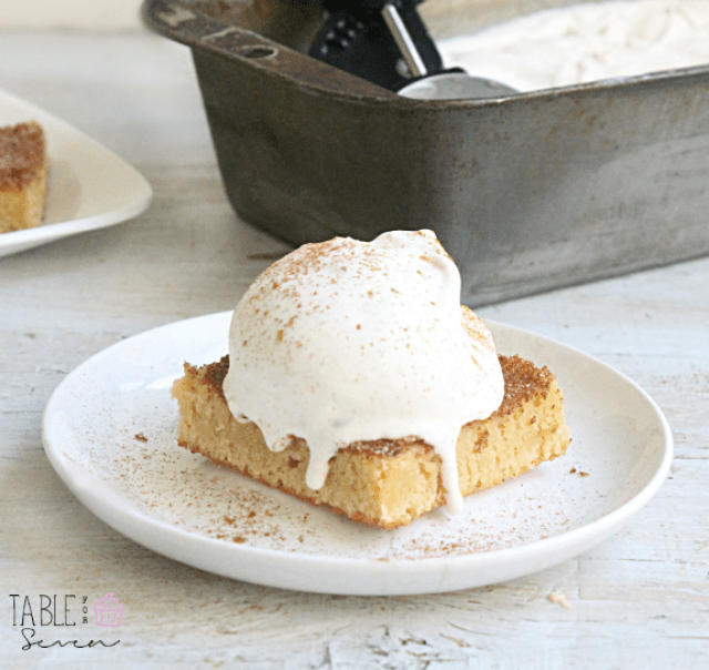 Snickerdoodle Bars with Cinnamon Ice Cream: Table for Seven
