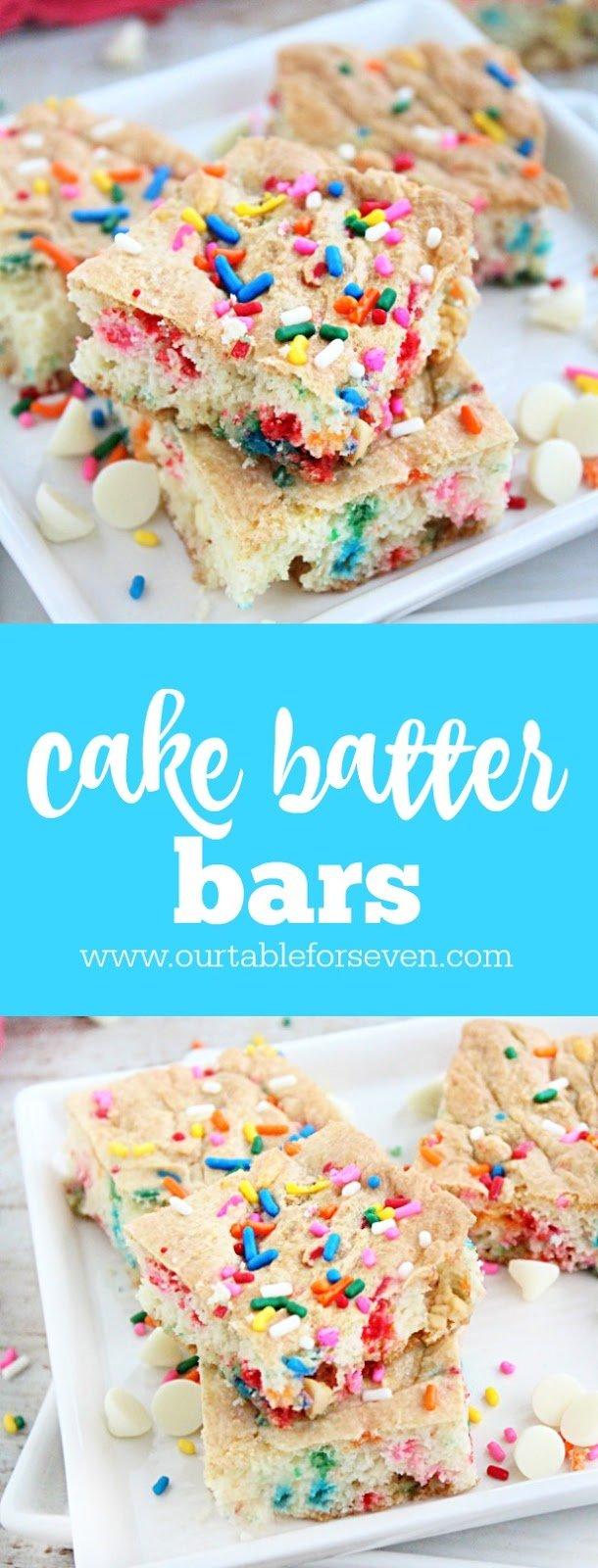Cake Batter Bars from Table for Seven