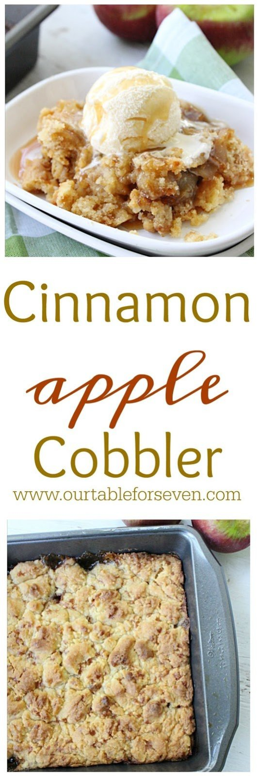 Cinnamon Apple Cobbler from Table for Seven