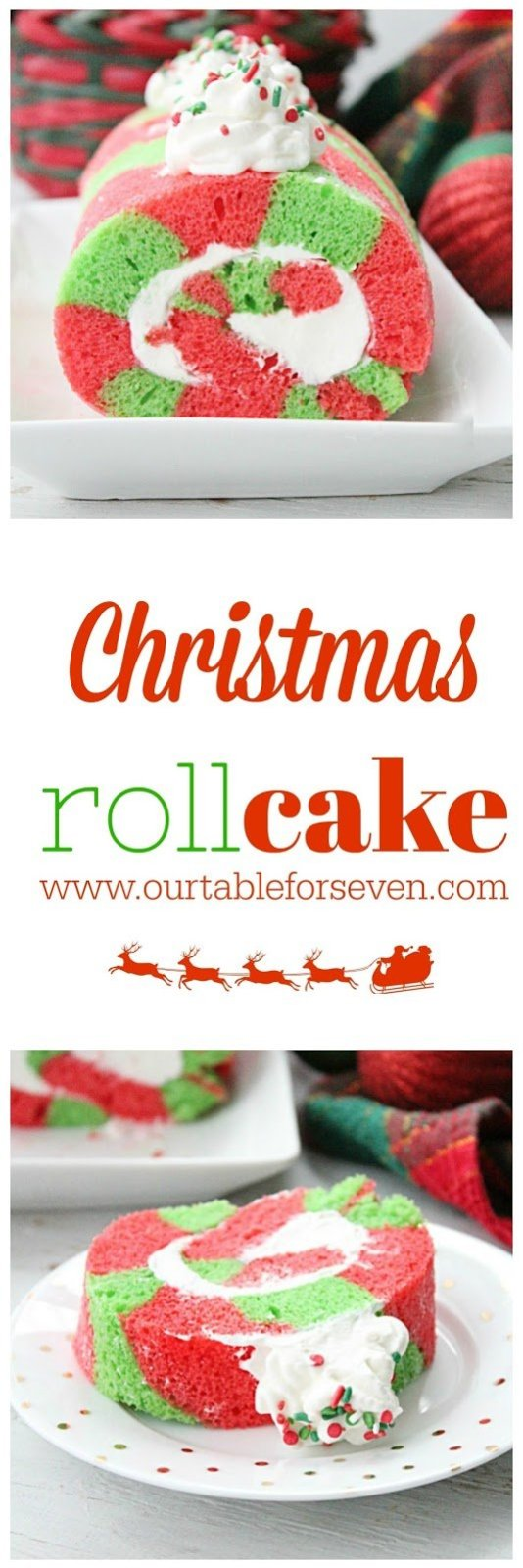 Christmas Roll Cake from Table for Seven