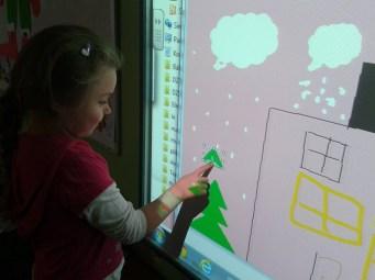 Kinga drawing the tree