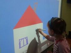 Madzia drawing the window