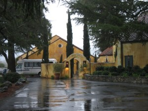 View of the winery from the parking lot