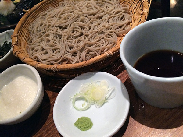 Cold Soba Noodles in Japan