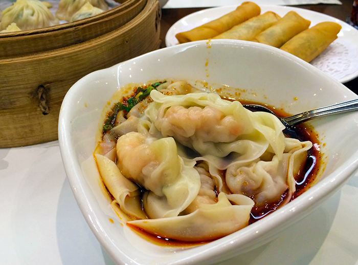 Spicy Pork Won Tons from Din Tai Fung  http://ourtastytravels.com/blog/obsession-asian-dumplings-favorite-picks/ #food #dumplings #ourtastytravels