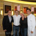 Chef Yannick Alleno, Chef Angelo Agliano, Sommelier Benoit Monier
