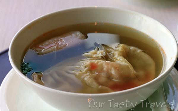 Supreme Shark Fin Dumpling in Lobster Soup at Tin Lung Heen http://ourtastytravels.com/restaurants/tin-lung-heen-cantonese-dim-sum-at-the-ritz-carlton-hong-kong/ #ourtastytravels