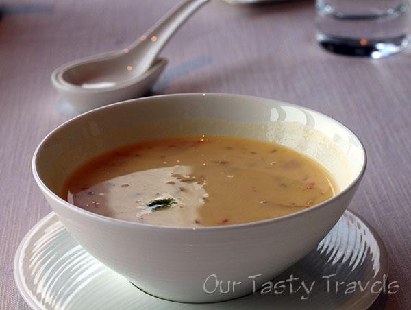 Mango Cream Dessert at Tin Lung Heen http://ourtastytravels.com/restaurants/tin-lung-heen-cantonese-dim-sum-at-the-ritz-carlton-hong-kong/ #ourtastytravels