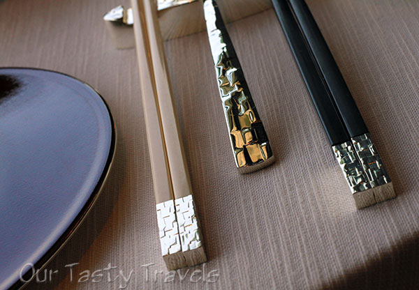 Chopstick and spoon detail at Tin Lung Heen http://ourtastytravels.com/restaurants/tin-lung-heen-cantonese-dim-sum-at-the-ritz-carlton-hong-kong/ #ourtastytravels