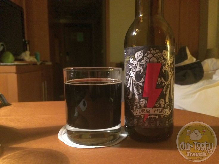 10-May-2015 : Imperial Stout by Tro Ales. Nice dark flavors. Not too bitter though. More caramel than coffee / chocolate. Even at 10% ABV. #ottbeerdiary